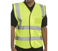 Hi Viz Satin Vest with ID Pocket - Various Sizes