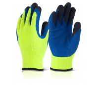 Latex Thermo-Star F-Dip - Yellow/Navy Gloves