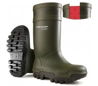 Size 8 Dunlop Purofort Thermal Safety Wellingtons - Green