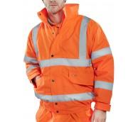 Orange Hi Viz Constructor  Bomber Jacket - Various Sizes