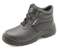 Black Chukka Lace Up Safety Boots Size 11