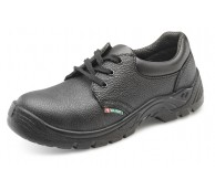 Black Safety Lace up Work Shoe Size 6