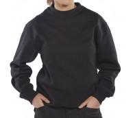 Black Click Polycotton Sweatshirt - Various Sizes