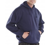 Navy Polycotton Hooded Sweatshirt - Various Sizes