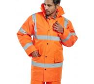 Orange Hi Vis Constructor Traffic Jacket - Various Sizes