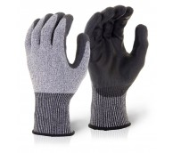 Grey PU Coated Cut Resistant Glove - Various Sizes