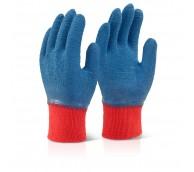 Latex Fully Coated Gripper Glove Blue