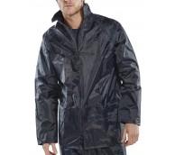 Navy Nylon/PVC Coated Jacket - Various Sizes