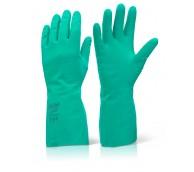 Green Nitrile Gloves Size 9