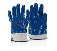 Blue Heavy Weight Fully Coated Nitrile Glove with Short Cuff - Various Sizes