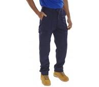 Navy Polycotton Trousers - Various Sizes