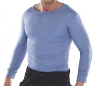 Blue Long Sleeve Thermal Vest - Various Sizes