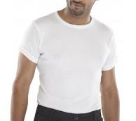 White Short Sleeve Thermal Vest - Various Sizes