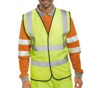 Fluorescent Yellow EN471 Class 2  High Viz Vest - Various Sizes