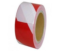 Red/White Non Adhesive Barrier Tape - 72mm x 500m