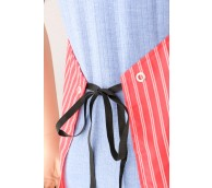 """Red Striped Butchers Apron 54"""" Long"""