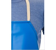 """Blue PVC Apron with ties 48"""""""