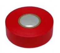 Red PVC Apron Tape - 100m Length