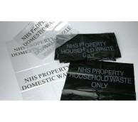 Black NHS Domestic Waste Sack