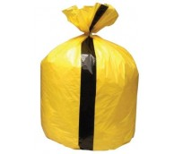 Tiger Stripe Yellow Clinical Waste Bag  - Extra Heavy Duty