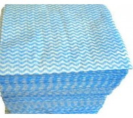 Viscose Wipes - Blue (50 per Pack)