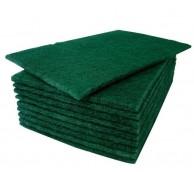 """Green Scourers (9"""" x 6"""") 23 x 15cm (10/Pack)"""