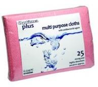 Multi-Purpose Anti-Bacterial Cloths - Various Colours