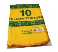 Yellow Dusters 50 x 35 - Pack of 10