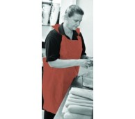 17 Micron Orange Disposable Aprons on a roll - 116cm Long
