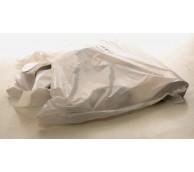 100 Micron White Disposable Apron 142cm Long - Flat Pack