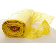 13 Micron Yellow Disposable Aprons on a roll - 106cm Long