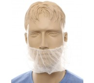 White Dispo Beard Snoods - Case of 1000