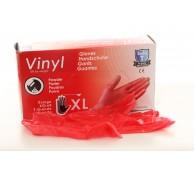 Vinyl Gloves XL Red
