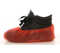 """16"""" 3.5g Red Disposable Overshoes - Handmade"""