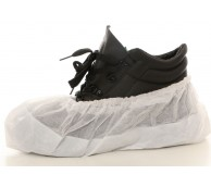 """16"""" White Antislip Disposable Overshoes with embossed sole"""