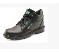 Black Smooth Leather Mid Cut Safety Boot - Various Sizes
