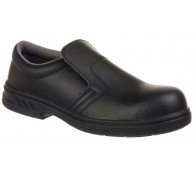 Black Micro Fibre Slip on Shoe - Various Sizes