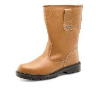 Tan Fur-Lined Rigger Boot - Various Sizes