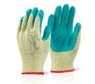 Topaz / Grip Glove Poly cotton Gloves - Green.