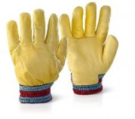 Large Hide Fully Lined Cold Weather Gloves