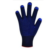 Blue Thermal Hi Therm Gloves with Polka Dots