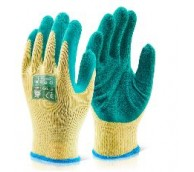 Multipurpose Green Latex Palm Coated Glove - Various Sizes
