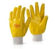 Yellow Nitrile Knit Wrist Glove - Various Sizes