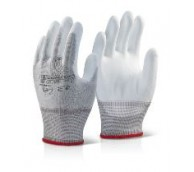 White Palm Coated Gloves - Various Sizes