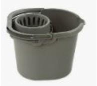 12Litre Grey Mop Bucket & Rose