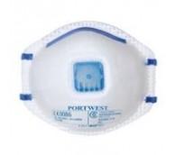 P2 Valved Dust/Mist Respirator Masks - 10 Per Box