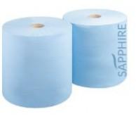 2 Ply Blue Wiper Roll - 28cm x 400m