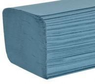 1 Ply Blue V-Fold Hand Towels - 240mm x 220mm
