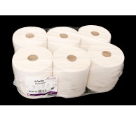 2 Ply White Embossed Laminated Roll - 175m x 200mm