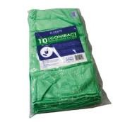 Microfibre Cloth - 40 x 40cm, Green - 10 per pack